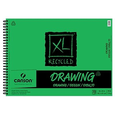 """Canson XL Recycled Drawing Pad (30 Sheets - Spiral Bound) 18x24"""""""