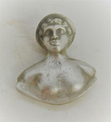 Museum Quality Ancient Roman Silver Bust Statue Of Artemis Circa 200-300Ad