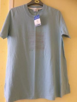 Brand New Maternity Tesco Duck Egg Summer Holiday T Shirt Top Size 10