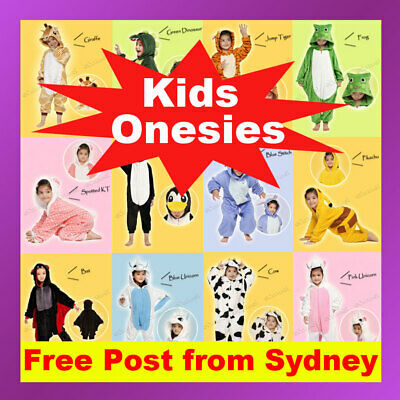 Kids Children's Unisex Kigurumi Animal Cosplay Costume Onesie Pajamas Sleepwear