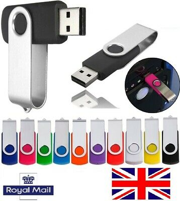 UK - 10 Pack 1GB/2GB/4GB/16GB USB 2.0 Memory Stick Flash Drive/Pen/Thumb Storage