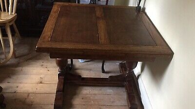 Antique Oak Refectory Draw Leaf Extending Dining Table
