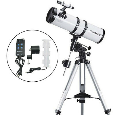 Visionking 150-1400mm EQ Reflector Newtonian Astronomical Telescope + motor 6''