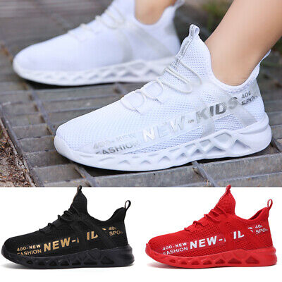 Kids Shoes Trainers for Boy Girl School Knit Sneakers Lightweight Mesh Athletic