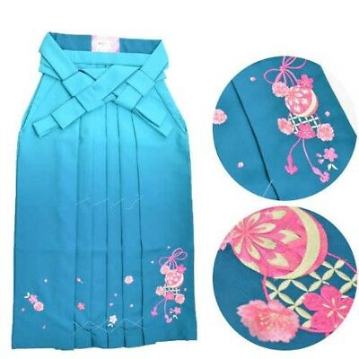 Traditional Japanese Andon Hakama for Women Blue Green L Japan EMS