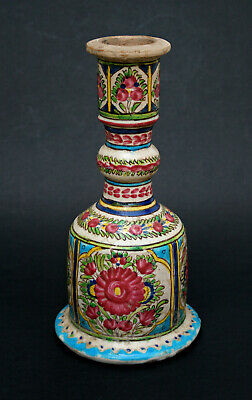 Antique Persian Pottery Hookah Base Qajar Islamic Middle Eastern