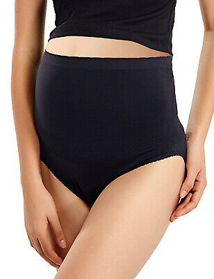 Women's Maternity Brief Seamless High Waist Over The Bump Pregnancy Panties