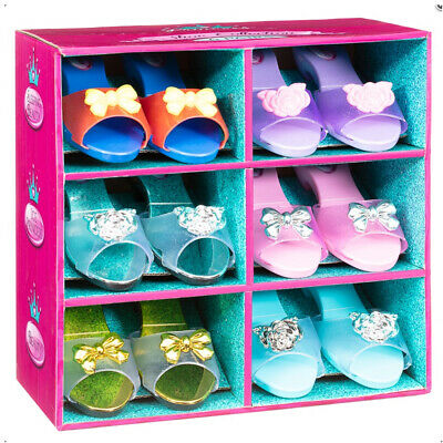 New Princess Girls Set of 6 Fancy Dress Up Shoes Collection Set
