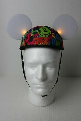 Disney Parks GLOW WITH THE SHOW Interactive Light Up Mickey Mouse Ears Hat VGUC