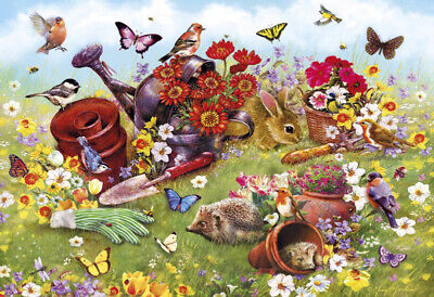 Gibsons In The Garden 500 Piece Flowers Wildlife Jigsaw Puzzle G3122 2019 New