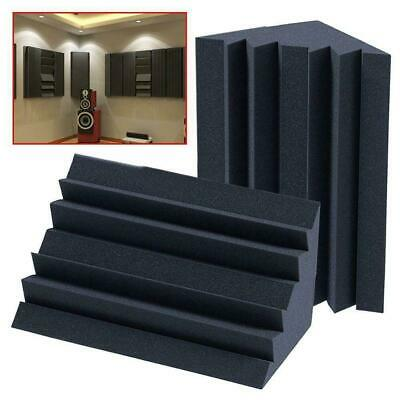 1/4x Corner Bass Trap Acoustic Panel Studio Sound Absorption Foam 12*12*25c Q7B5