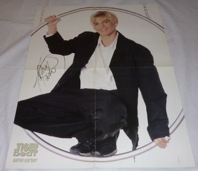 Aaron Carter Teen Magazine Poster 2002/2003 Another Earthquake! Young In Black