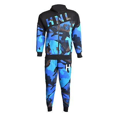 Kids Boys Girls Tracksuit HNL Royal Camouflage Hoodie & Botom Jogging Suit 7-13Y