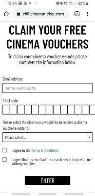 Odeon Cinema Voucher for 1 entry (see description)