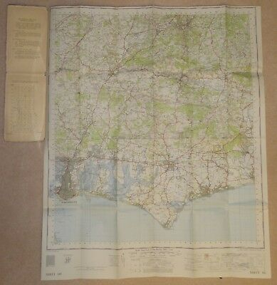 """Ordnance Survey """"One-Inch map"""" sheet 181; Chichester, published 1960"""
