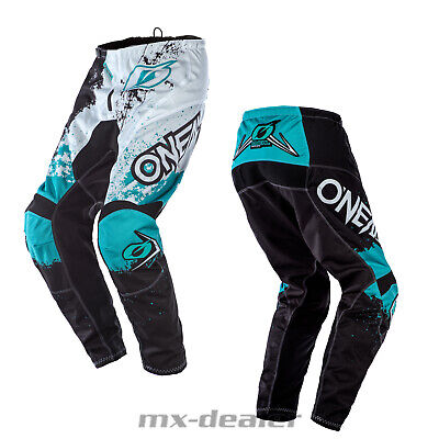 2020 O'Neal Element Impact Teal Schwarz Hose  mx motocross Enduro Quad Crosshose