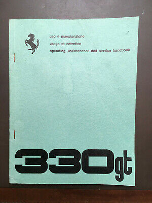 Ferrari 330 GT operating, maintenance and service book original 1965