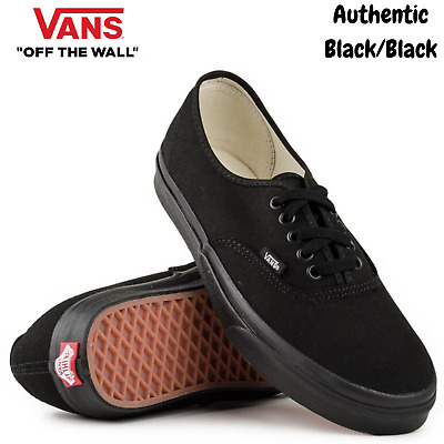 VANS Authentic Shoes Sneakers Classic Skateboard Sneakers Casual - Black/Black