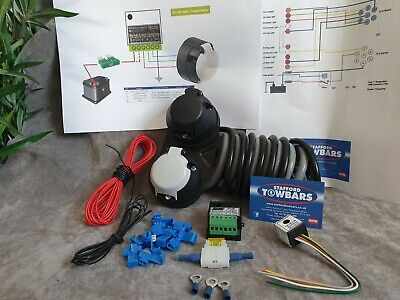 12N and 12S full Twin Towing Electrics Towbar wiring kit Buzzer Split charge