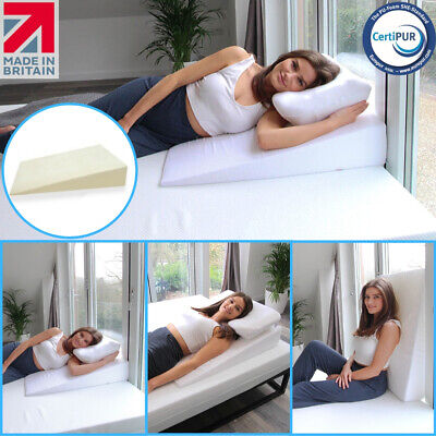 Extra Wide Single Bed Width Acid Reflux Bed Wedge - UK MADE ✔ Cover Included ✔