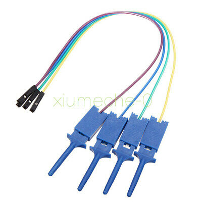 4PCS Test Clamp Wire Hook Test Clip for Logic Analyzer Electronic Components NEW