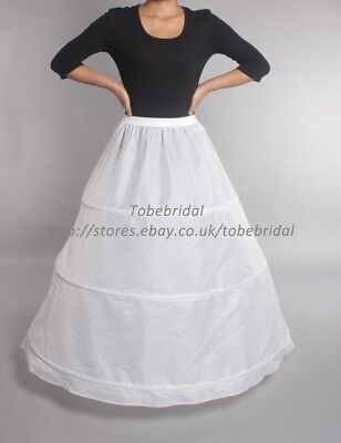 3 Hoops A Line Wedding Petticoat Crinoline Underskirt Bridal Skirt Slip Dress