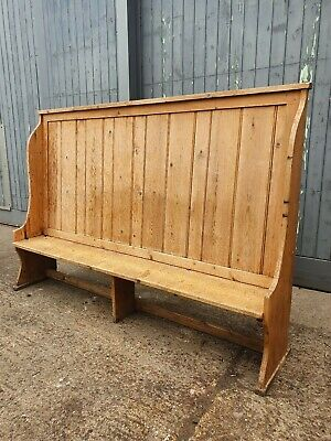 Large High Back Pine Church Pew dining bench. Free UK Delivery. Pub seating