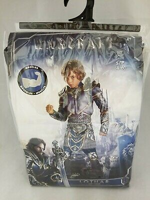 World Of Warcraft Lothar Costume Child SZ Medium 7-8 Padded Muscle Torso /& Arms