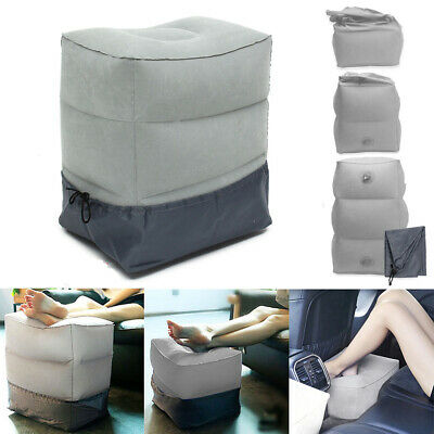 Inflatable Office Travel Footrest Leg Foot Rest Cushion Pillow Pad Kids Bed USA