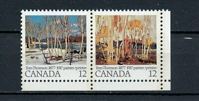 Canada MNH #733-34ii Variety Thomson Painting Stroke Above D 1977 A189