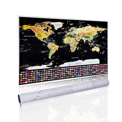 Scratch Off World Map Classical Travel Edition Personalised Travel Tracker for