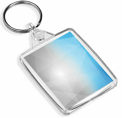 Abstract Blue Grey Ombre Art Keyring - IP02 - Abstract Shapes Cool Gift #2091