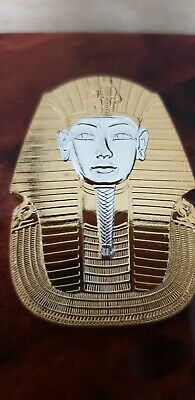 Gold  And Silver Plated 23k Pharaoh Coin Medal