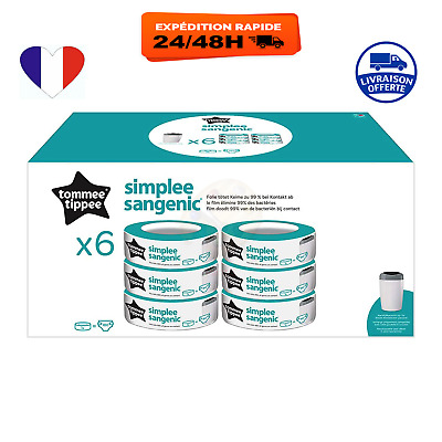 Tommee Tippee- 6 Recharges pour Poubelle à Couches SIMPLEE Sangenic x6
