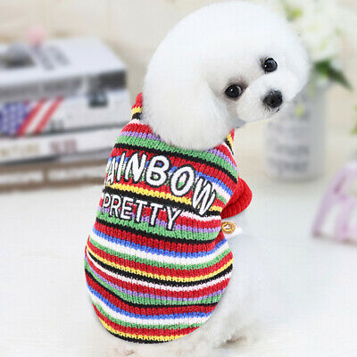 Knitted Small Dog Sweater Chihuahua Clothes Soft Pet Kitten Puppy Jumper Apparel