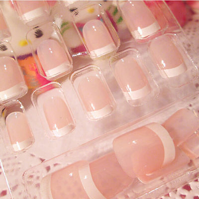 24x Women's French Style DIY Manicure Art Tips False Nails with PTX FES