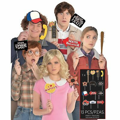 13 PCS Official Stranger Things Photo Booth Prop Set Watch Party Selfie Eleven