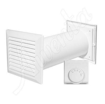 100mm Wall Extractor Fan Kit Ventilation System with Termostat