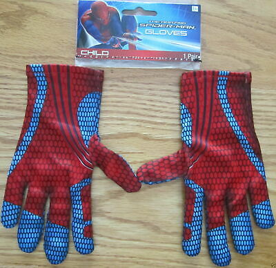 Amazing Spider-Man Peter Parker Costume Gloves Marvel Comics Brand New d