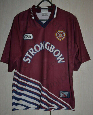 Hearts Of Midlothian Scotland Home 1998 1999 Football Shirt #12 Locke