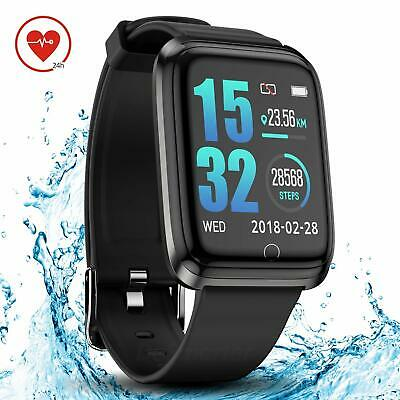 DoSmarter Smart Watch with Heart Rate Monitor, 1.3 Inches Bright Color Screen