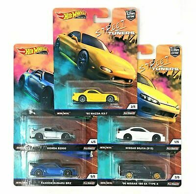 NEW! Hot Wheels 1:64 Car Culture 2019 Street Tuners Set of 5 Mazda Nissan Honda