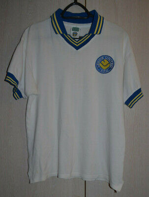 Leeds United 1980`S Home Football Shirt Score Draw Retro Replica Size M