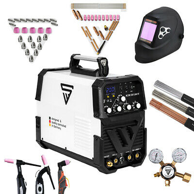 Full equipment set: Welder STAHLWERK AC/DC TIG 200 + PLASMA CUTTER + ARC STICK