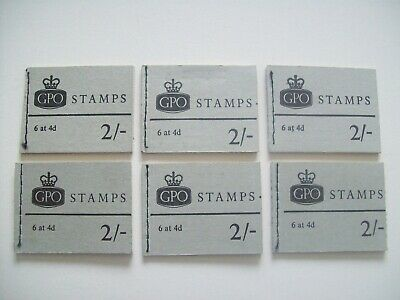 Vintage GPO Book of Stamps 6 x 4d Stamps. 2 Shillings. Various Dates Available