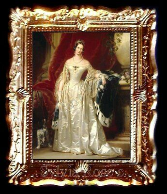 BEAUTIFUL MINIATURE PICTURE IN GOLD FRAME FOR DOLLS HOUSE / ROOM BOX -   No.4457