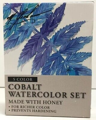 (New) M. Graham  Watercolor Paint Set, Cobalt 5 color