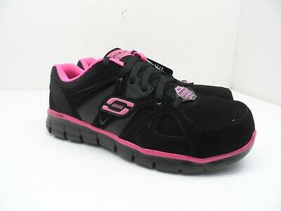 Skechers Work Women's Synergy Sandlot Steel Toe Work Shoes 76553 Black/Pink 10M