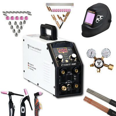 Full equipment set Welder STAHLWER CT 550 ST IGBT DC TIG MMA with Plasma Cutter