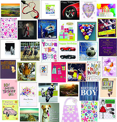 Super Value 40 Mixed Assortment Pack of Birthday & Greeting cards